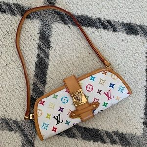 LV multicolored clutch